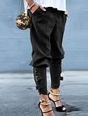 hesapli Gömlek-Kadın's Temel Eşoğman Altı Pantolon - Solid Siyah Ordu Yeşili S M L
