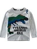 Χαμηλού Κόστους Μπλουζάκια για αγόρια-Παιδιά Αγορίστικα Βασικό Ριγέ Στάμπα Μακρυμάνικο Βαμβάκι Μπλούζα Λευκό