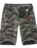 billige T-shirts og undertrøjer til herrer-Herre Militær Shorts Bukser - Ensfarvet Stilfuldt Bomuld Grøn Sort Lysegrøn 34 36 38
