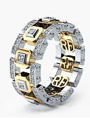 cheap Men's Belt-Men's Women's Classic Ring Lucky Stylish Ring Jewelry Gold / Rose Gold For Engagement Daily 6 / 7 / 8 / 9 / 10