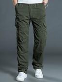 levne Pánské kalhoty a kraťasy-Pánské Šik ven / Armáda Větší velikosti Kalhoty chinos Kalhoty - Jednobarevné Černá Tmavě šedá Armádní zelená XXXXL XXXXXL XXXXXXL