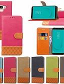 hesapli iPhone Kılıfları-Pouzdro Uyumluluk Samsung Galaxy J7 Prime / J7 (2017) / J7 (2018) Kart Tutucu / Satandlı / Flip Tam Kaplama Kılıf Solid / Geometrik Desenli Sert Tekstil