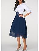 baratos Vestidos para Ocasiões Especiais-Mulheres Evasê Vestido - Chifon Médio
