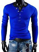 זול תחתוני גברים אקזוטיים-אחיד צווארון V רזה טישרט - בגדי ריקוד גברים פול