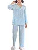 Χαμηλού Κόστους T-shirt-Στρογγυλή Λαιμόκοψη Σετ Εσώρουχα Πυτζάμες Γυναικεία Γεωμετρικό