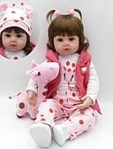 זול שמלות NYE-בובה מחדש תינוקות בנות 18 אִינְטשׁ סיליקון - ילדים / נוער הילד של יוניסקס צעצועים מתנות
