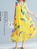 abordables Vestidos de Mujer-Mujer Chic de Calle Elegante Gasa Vestido - Retazos Estampado, Floral Midi