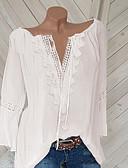 halpa Pusero-Naisten V kaula-aukko Yhtenäinen Pluskoko - T-paita Valkoinen