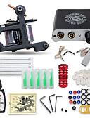 billige Nederdele-DRAGONHAWK Tattoo Machine Starter Sæt - 1 pcs Tattoo Maskiner med 1 x 15 ml tatoveringsfarver, Professionel, Sæt, Nem at montere Legering Mini strømforsyning No case 1 x støbejern tatoveringsmaskine
