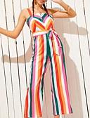 voordelige Dameshoeden-Dames Standaard Regenboog Jumpsuit, Gestreept M L XL