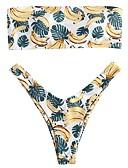 ieftine Bikini & Costume Baie-Pentru femei Alb Tankini Costume de Baie - Fruct S M L Alb