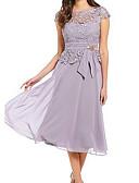 رخيصةأون فساتين الاشبينات-فستان نسائي قياس كبير متموج دانتيل طول الركبة لون سادة خصر عالي مناسب للخارج