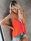 cheap Women's Shirts-Women's Tank Top - Solid Colored Strap Orange L