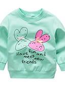 お買い得  女児 フーディーズ&スウェットシャツ-幼児 女の子 活発的 プリント 長袖 ウール フーディーズ&スウェットシャツ イエロー