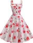 cheap Print Dresses-Women's Basic A Line Dress - Color Block Pink L XL XXL