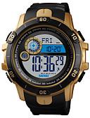 Недорогие Цифровые часы-SKMEI Муж. Армейские часы Цифровой силиконовый Черный 50 m Армия Защита от влаги Будильник Цифровой На открытом воздухе Мода - Черный Золотистый Один год Срок службы батареи