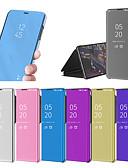 זול מגנים לטלפון-מגן עבור Xiaomi Xiaomi Redmi Note 5 Pro / Xiaomi Redmi Note 6 / Xiaomi Redmi 6 Pro עם מעמד / ציפוי / מראה כיסוי מלא אחיד קשיח PC