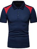 """זול חולצות פולו לגברים-אחיד עסקים האיחוד האירופי / ארה""""ב גודל Polo - בגדי ריקוד גברים לבן / שרוולים קצרים"""