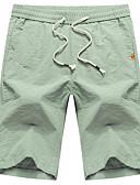 abordables Camisas de Hombre-Hombre Básico Delgado Chinos Pantalones - Un Color Negro Verde Claro 28 34 36 / Correa