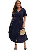 olcso Molett ruhák-Női Bő A-vonalú Ruha Midi V-alakú