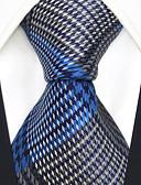 cheap Men's Ties & Bow Ties-Men's Party / Work / Basic Necktie - Rainbow / Check / Jacquard
