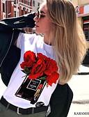 זול שמלות מודפסות-גראפי טישרט - בגדי ריקוד נשים חום