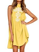 cheap Women's Dresses-Women's Beach Basic Sexy A Line Shift Dress - Floral Navy Blue Yellow Army Green L XL XXL