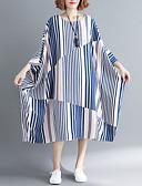 abordables Vestidos Estampados-Túnica midi para mujer vestido azul talla única