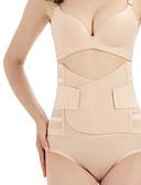 זול מחוכים ובוסטייה-בגדי ריקוד נשים קרס מחוך מתחת לחזה - אחיד, רזה / בקרת בטן בז' M L XL