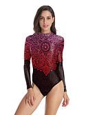 Χαμηλού Κόστους Στολές κολύμβησης-Μαγιό Ολόσωμη φόρμα Κοστούμια μαγιό Cosplay Παραλία κορίτσι Ενηλίκων Στολές Ηρώων Στολές Ηρώων Halloween Γυναικεία Ρουμπίνι Εκτύπωση Χριστούγεννα Halloween Απόκριες