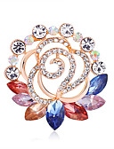 cheap Print Dresses-Women's Brooches Creative Flower European Fashion Brooch Jewelry Orange Blue Assorted Color For Wedding Gift Daily