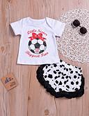 povoljno Hlačice za Dječaci bebe-Dijete Djevojčice Osnovni Print Print Kratkih rukava Regularna Pamuk Komplet odjeće Obala