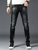 ราคาถูก แจ็กเก็ต &เสื้อโค้ทผู้ชาย-สำหรับผู้ชาย พื้นฐาน กางเกง Chinos กางเกง - สีพื้น ฝ้าย สีดำ 28 34 36