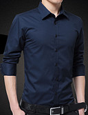 cheap Men's Shirts-Men's Shirt - Solid Colored Black XXXL