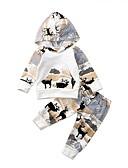 זול סטים של ביגוד לתינוקות-סט של בגדים כותנה קצר שרוול ארוך דפוס יום יומי / פעיל בנים תִינוֹק / פעוטות