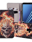 halpa Puhelimen kuoret-Etui Käyttötarkoitus Samsung Galaxy J6 (2018) Lomapkko / Korttikotelo / Tuella Suojakuori Pääkallot Kova PU-nahka