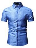 levne Pánské košile-Pánské - Batikované Košile Stojáček Černá XL