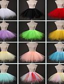 halpa Naisten hatut-Baletti Classic Lolita 1950-luku Mekot Petticoat balettihame Krinoliini Naisten Tyttöjen Asu Sininen / Pinkki / Fuksia Vintage Cosplay Party Suoritus Prinsessa / Alushame
