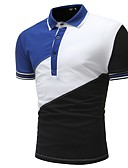 hesapli Erkek Polo Tişörtleri-Erkek Gömlek Yaka Polo Zıt Renkli Havuz
