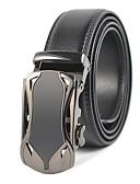 رخيصةأون أحزمة الرجال-حزام خصر لون سادة رجالي, عمل / أساسي