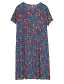 povoljno Ženske haljine-Žene Vintage Osnovni A kroj Haljina - Kolaž, Cvjetni print Do koljena