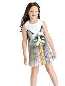 זול שמלות לבנות-שמלה חיה בנות ילדים