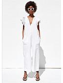 זול סרבלים ואוברולים לנשים-M L XL אחיד, סרבלים ישר לבן סגנון רחוב בגדי ריקוד נשים
