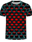 hesapli One-piece swimsuits-Erkek Tişört Desen, Geometrik / 3D / Grafik YAKUT XXXXL