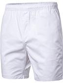 Недорогие Мужские брюки и шорты-Муж. Классический Большие размеры Чино / Шорты Брюки - Однотонный Темно синий Пурпурный Хаки XXL XXXL XXXXL