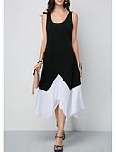 preiswerte Cocktailkleider-Damen A-Linie Kleid Einfarbig Asymmetrisch Tiefes U