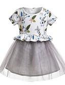 abordables Robes pour Filles-Enfants Fille Fleur Robe Blanc