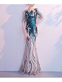 povoljno Večernje haljine-Sirena kroj Ovalni izrez Do poda Sa šljokicama Haljina s Šljokice po LAN TING Express