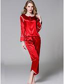 preiswerte Pyjamas-Damen U-Ausschnitt Anzüge Pyjamas Solide