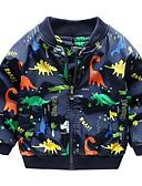 povoljno Jakne i kaputi za dječake-Djeca Dječaci Aktivan Dinosaur Print Pamuk Jakna i kaput Obala